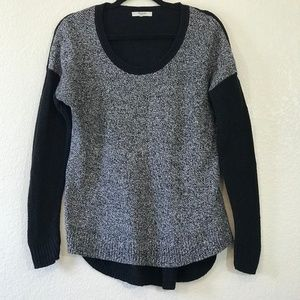 Madewell Sz M Hi Low Marled Sweater: 1426